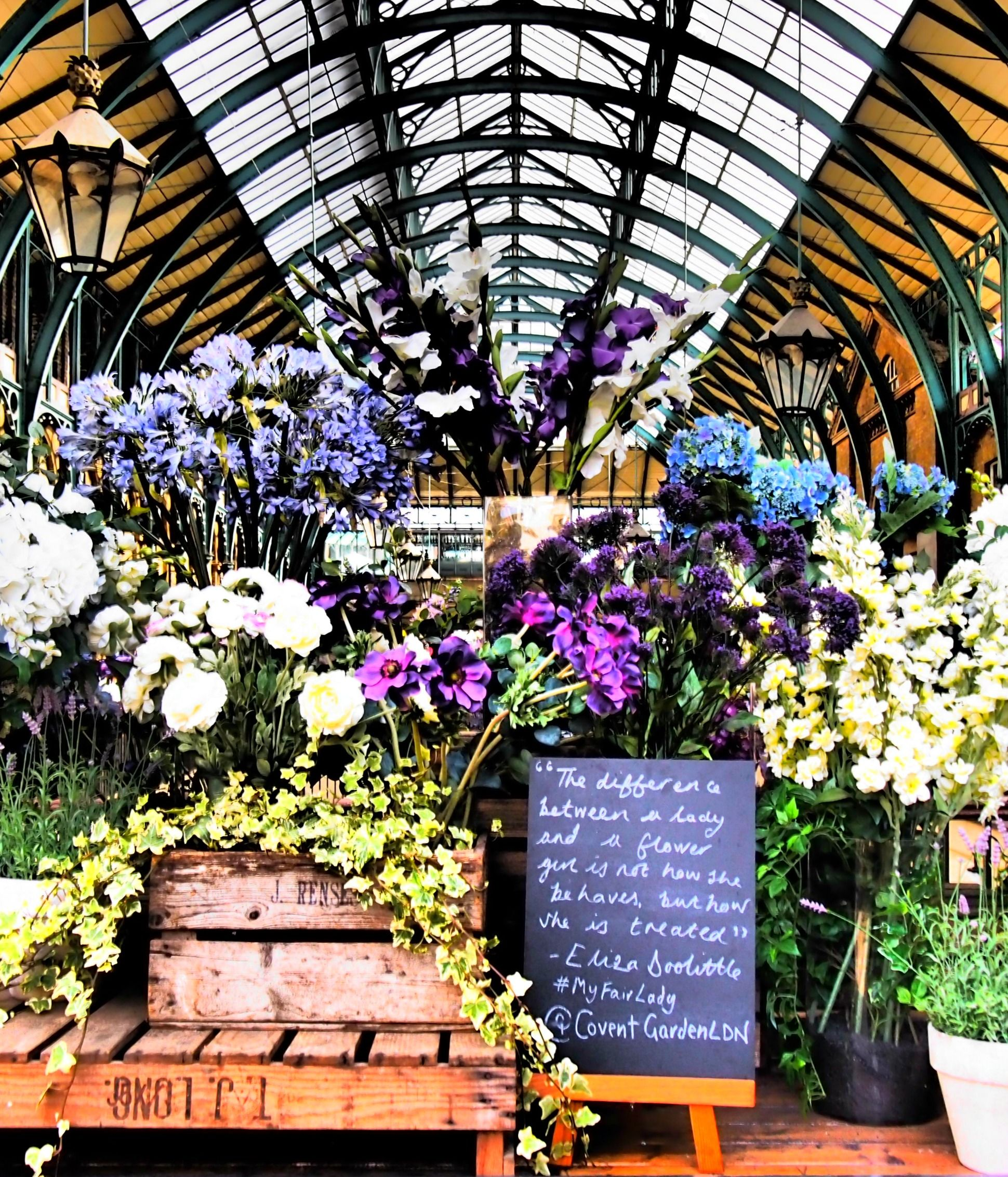 Flowers at Covent Garden Market. London. Read more about