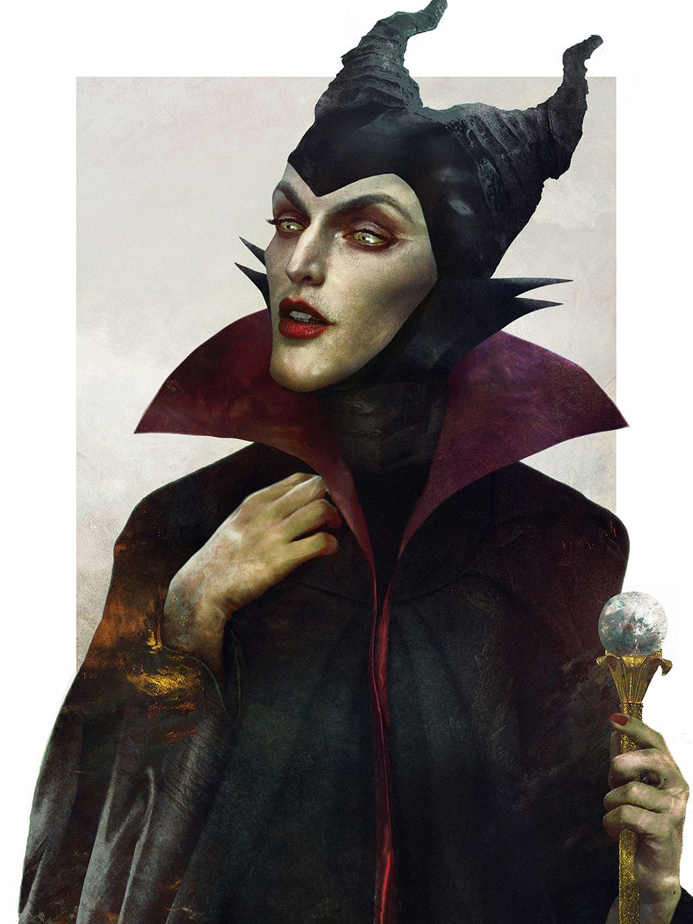 Pieces Of Eerily Realistic Disney Villains Artwork Disney - Artist brings disney villains to life in eerily realistic illustrations