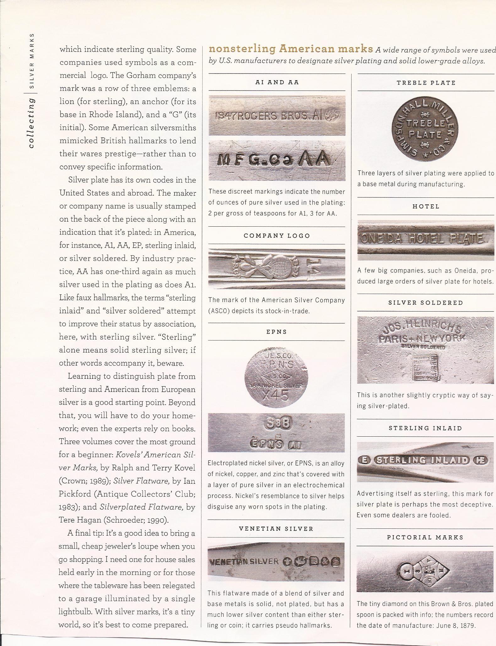 Silver Markings All Things Vintage Pinterest Flatware Vintage