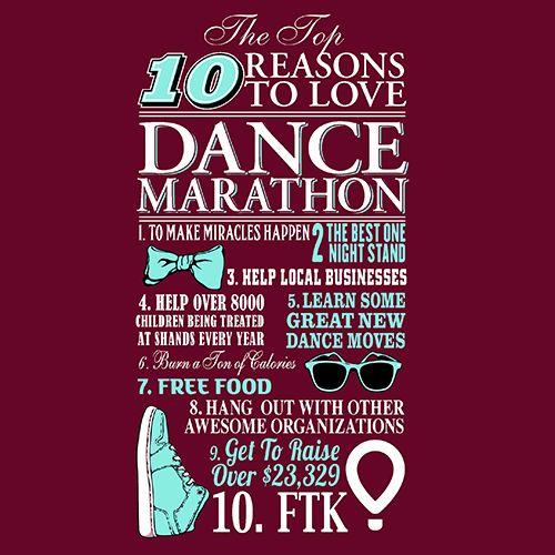 10 Reasons To Love Dance Marathon Ken Young Co Shirt Design