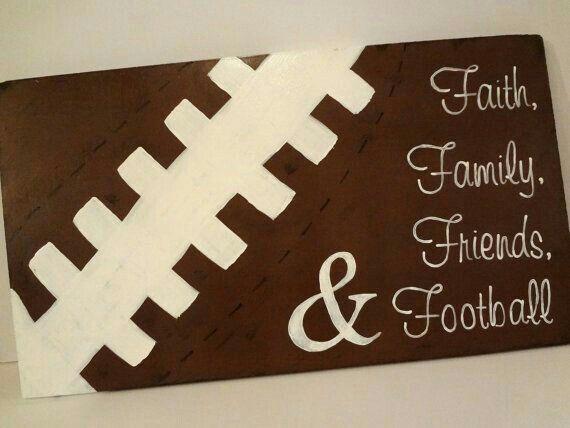 Faith, Family, Friends, and Football High Quality Canvas Wall Art of ...
