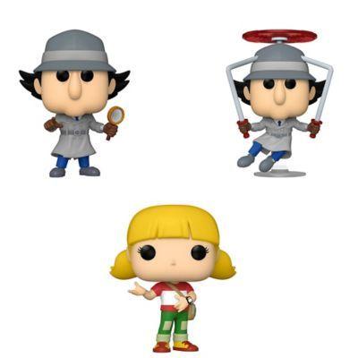 Funko Pop! Animation Inspector Gadget Collectors Set - Inspector Gadget (Possible Limited Ed.), Inspector Gadget Flying, Penny