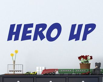 Hero Up Wall Decal Super Hero Squad Decor by BetterThanStickers  sc 1 st  Pinterest & Hero Up Wall Decal Super Hero Squad Decor by BetterThanStickers ...