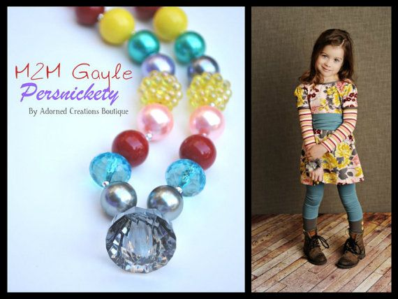 Bubblegum Chunky Bead Necklace M2M Gayle by AdornedCreations, $22.00