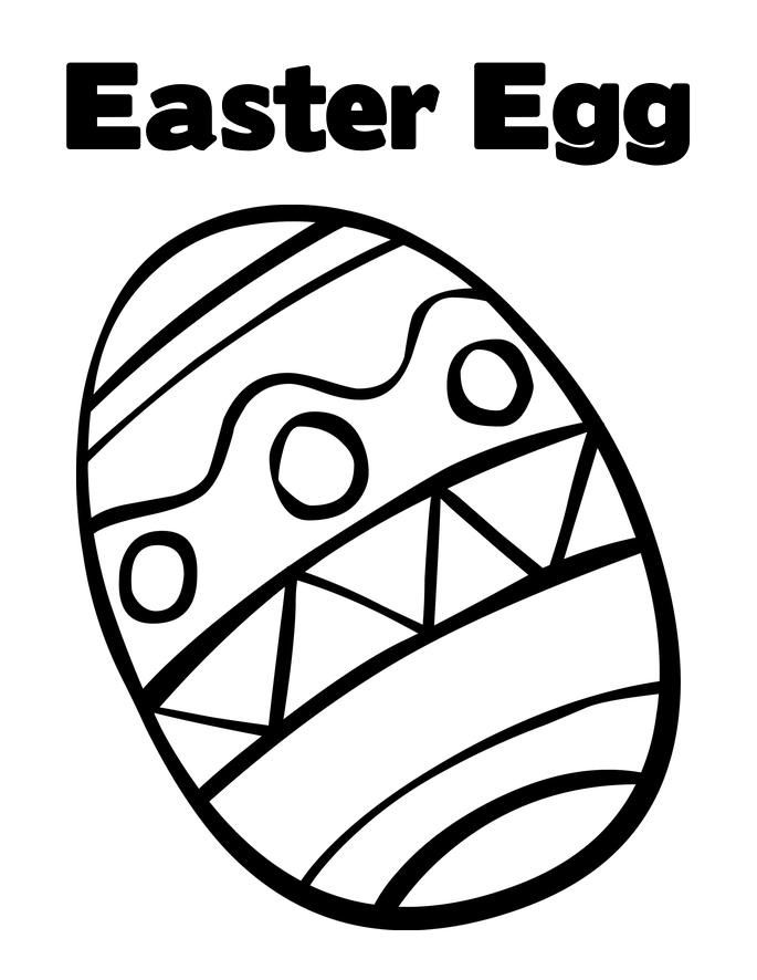 Easter Eggs Printable Coloring Coloring easter eggs