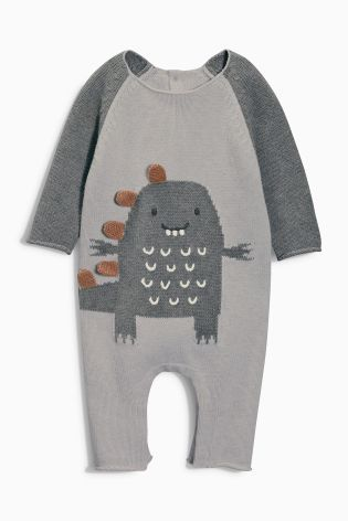 Buy Knitted Dino Romper 0 18mths Online Today At Next United