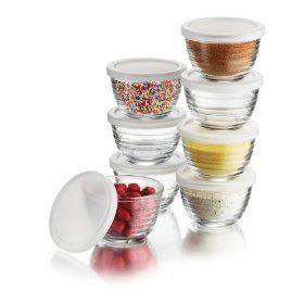 2 oz baby food glass storage set of 8