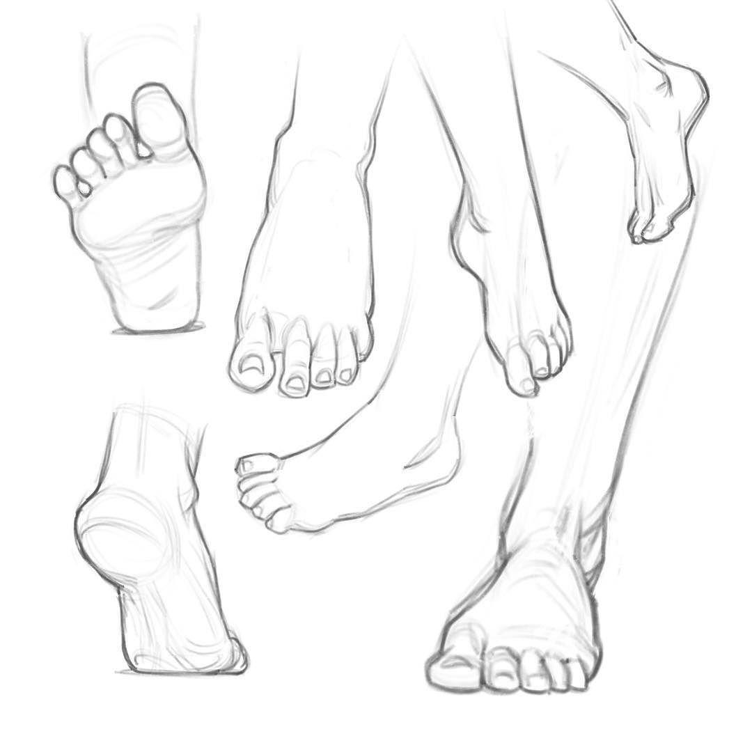 Lots of feet! More anatomy practice #practicemakesperfect #art #work ...