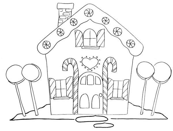 Image Result For Gingerbread House Coloring Pages Christmas