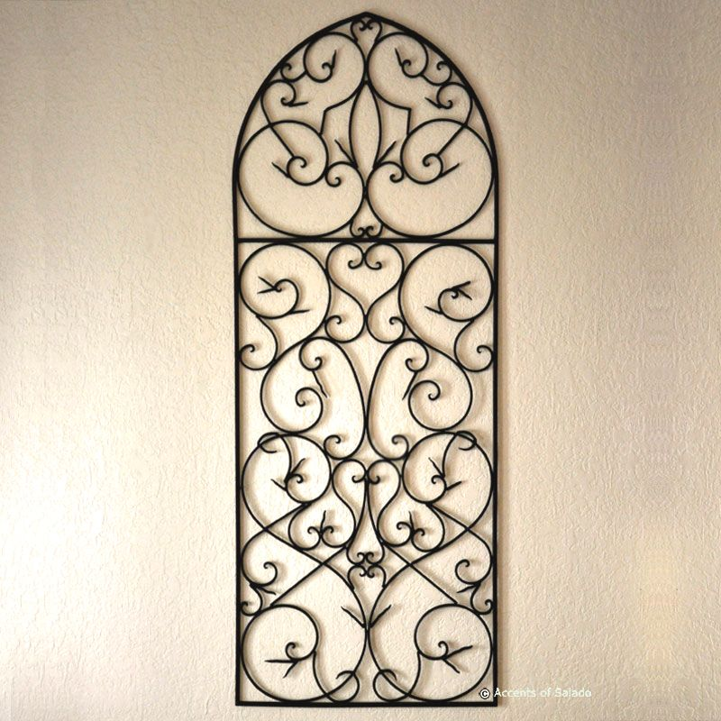 Gothic style wrought iron piece for above the fireplace ...