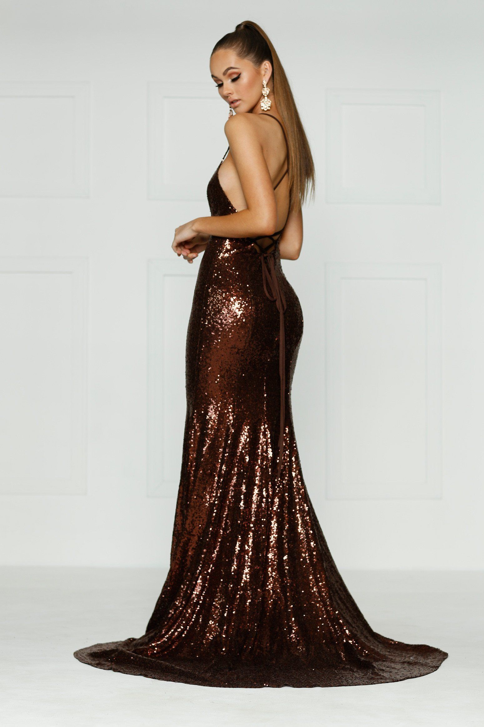 59ada4c50c70e A&N Kendall Sequin Gown - Chocolate Brown in 2019 | Prom/Ball ...