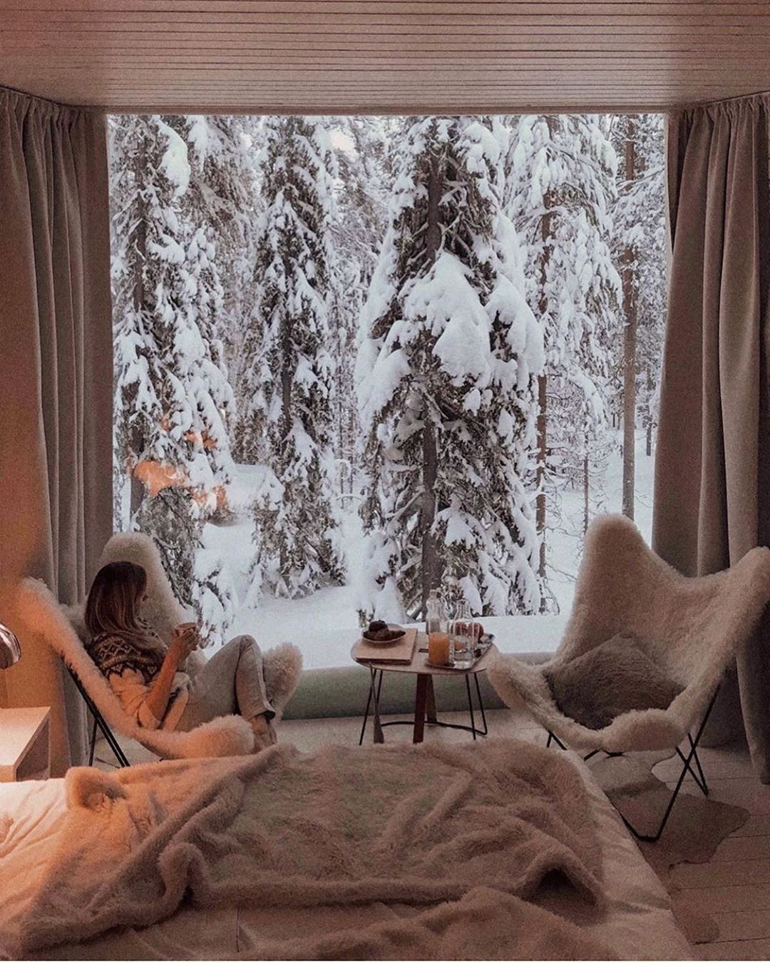 """Gooseberry Intimates on Instagram: """"Our kind of paradise ❄ cannot wait for our upcoming snowy getaway with the family ☃️ 📷 @belaya.lena #wintermood"""""""