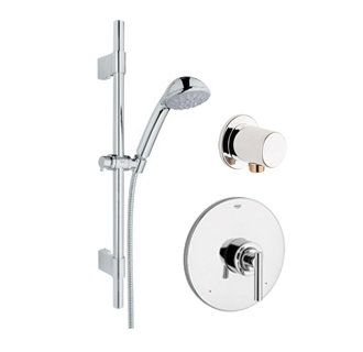 Http Www Faucetdirect Com Grohe Gr Pb060 Atrio Pressure Balanced Shower Trim With Multi Function Showerhead Slide Ba Bar Heads Lever Handle