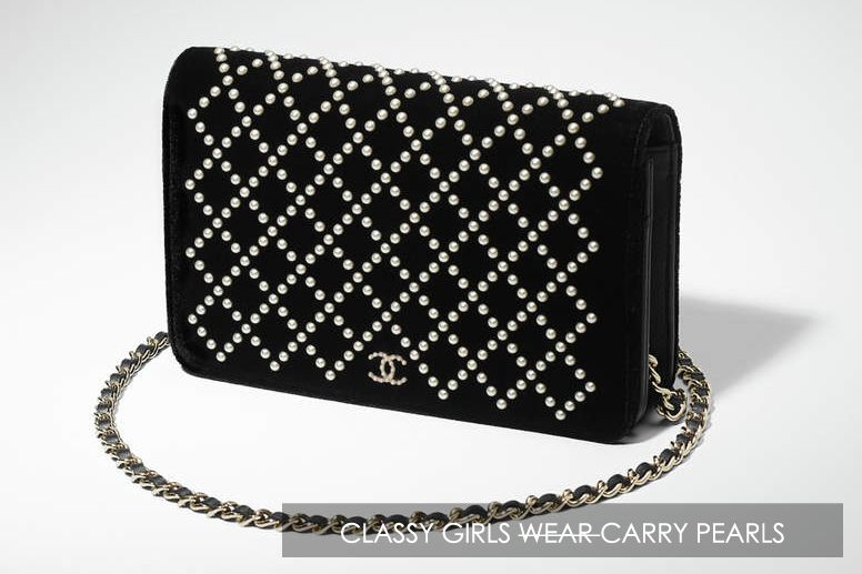 d90b29222c33 Chanel Fantasy Pearl Quilted WOC | Clutches | Chanel pearls, Chanel ...