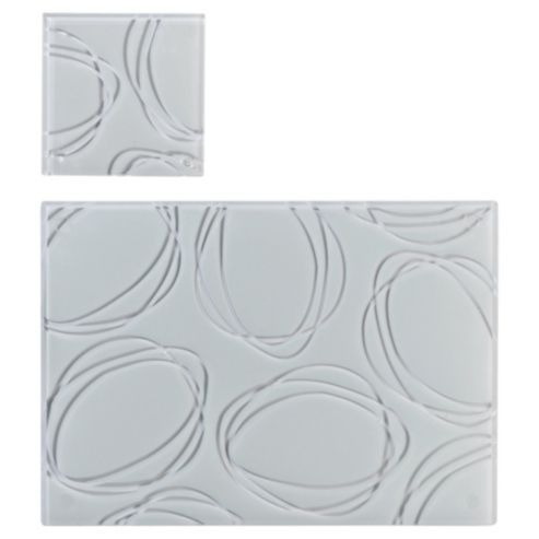 Tesco Direct Tesco Set Of 6 Glass Placemats And Coasters Placemats Glass Coasters