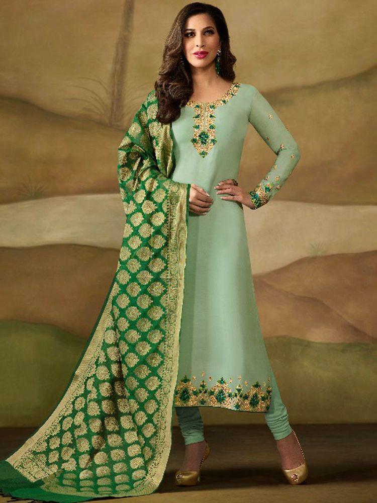 b3eab64b913  Bollywood  Indian  Designer  Latest  Embroidered  Salwar Kameez  Party   Wear  Dresses  Handmade  Indian