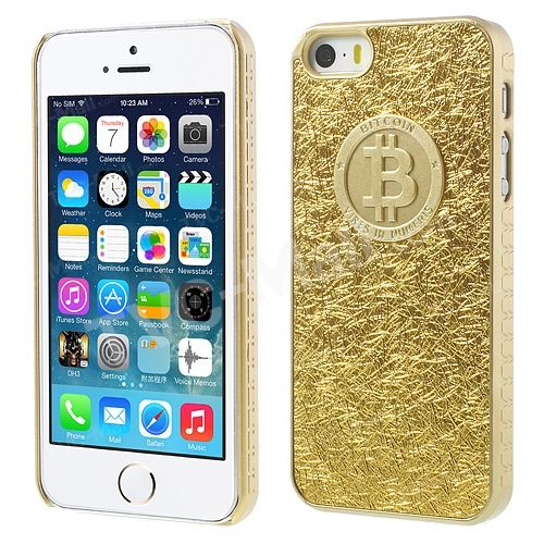 Bitcoin #Gold Silk Texture Case for #iPhone5s/5