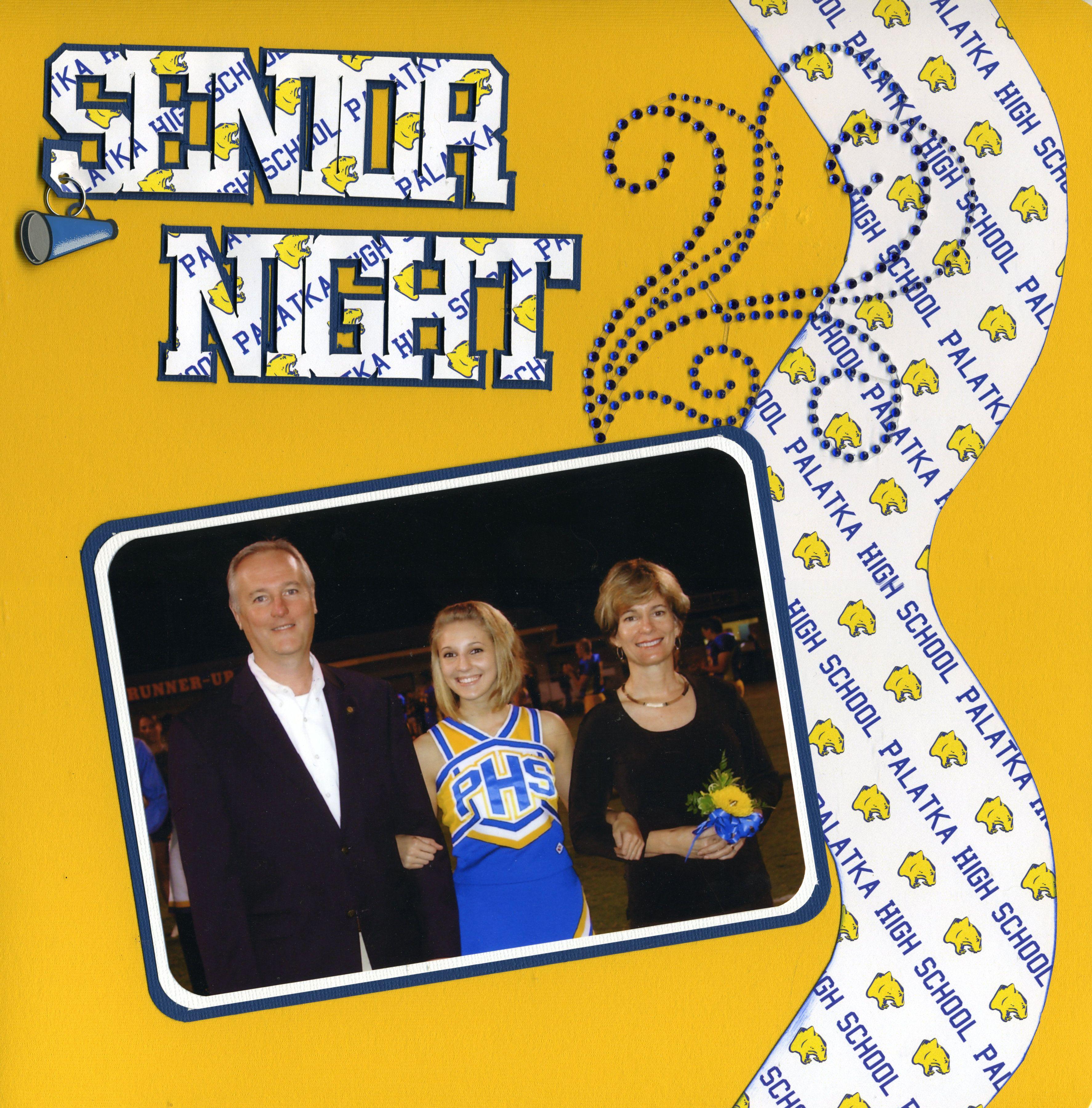 Graduation scrapbook ideas pinterest - Senior Night Scrapbook Com
