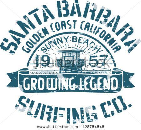 Santa barbara surfing artwork for t shirt print 2 custom for T shirt printing santa barbara