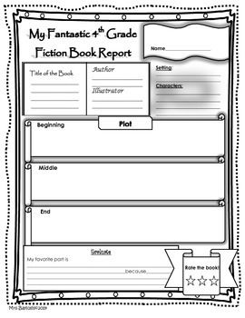 Book Report Fiction And Non Fiction 4th Grade Fiction Pinterest