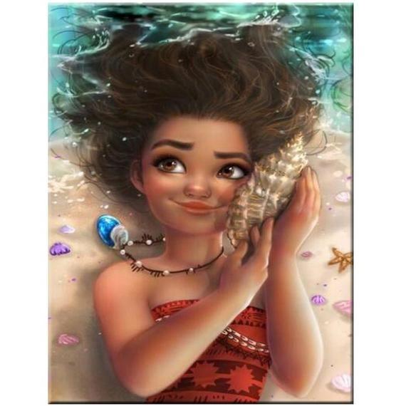 5D DIY Diamond Painting Kits Mona Mosaic Diamond Embroidery Full Square/Round Drill Cartoon Girl Cra