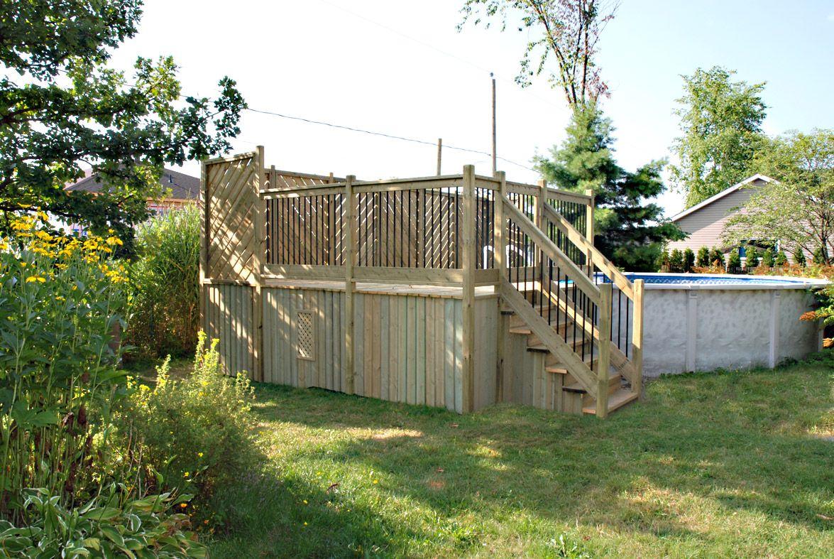 Plan patio piscine hors terre recherche google piscine for Plan pour deck de piscine