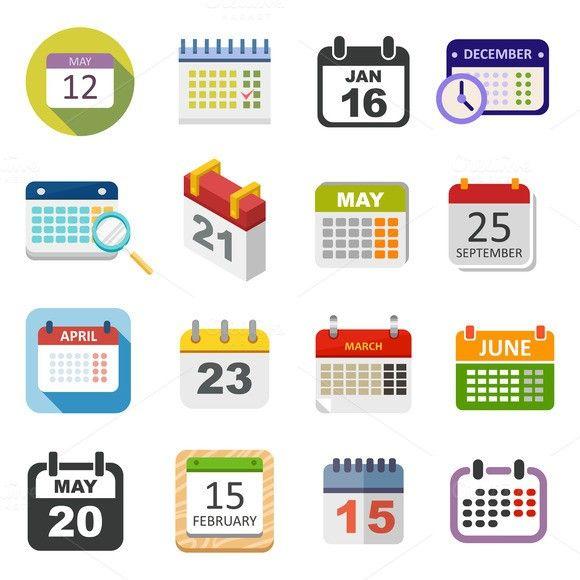 Calendar icon vector  UI Elements  $5 00 | motion graphics