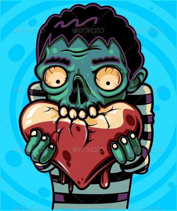 VECTOR DOWNLOAD (.ai, .psd) :: https://jquery.re/article-itmid-1001395600i.html ... Zombie Love ...  blood, blue, cartoon, character, cute, green, halloween, heart, holiday, love, lust, pink, poster, red, valentine, zombie  ... Vectors Graphics Design Ill