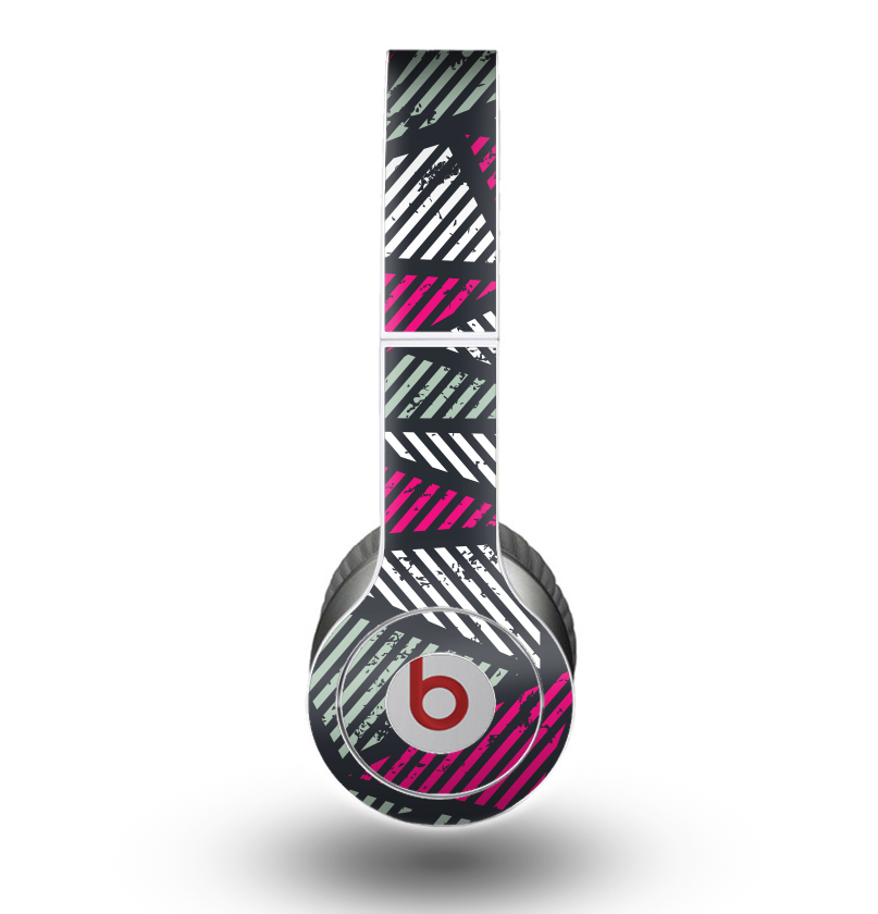 The Abstract Striped Vibrant Trangles Skin for the Beats by Dre Original Solo-Solo HD Headphones