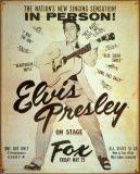 Elvis at the Fox Placa de lata