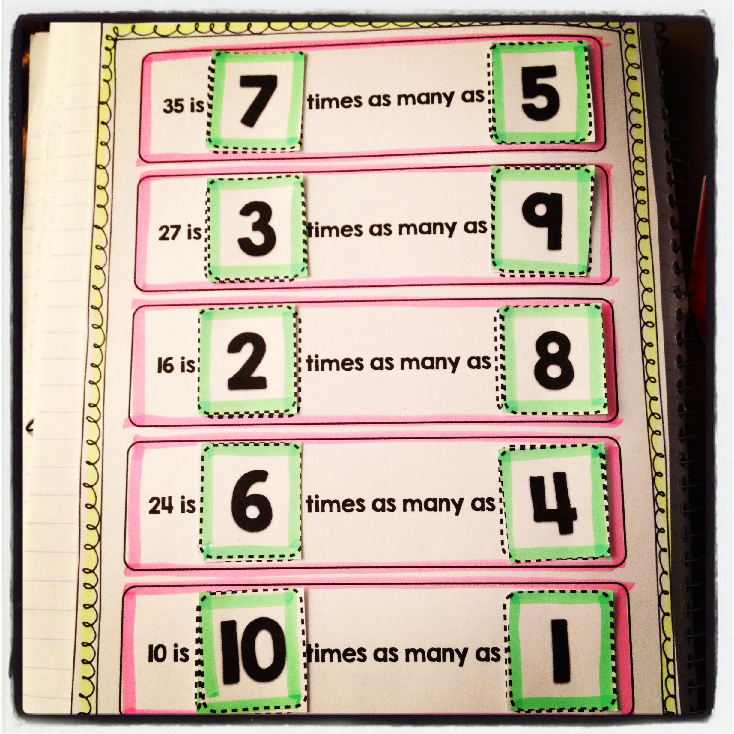Interactive Notebook Activities aligned with CCSS 4.OA.1 - fun way to work on multiplicative comparison! $