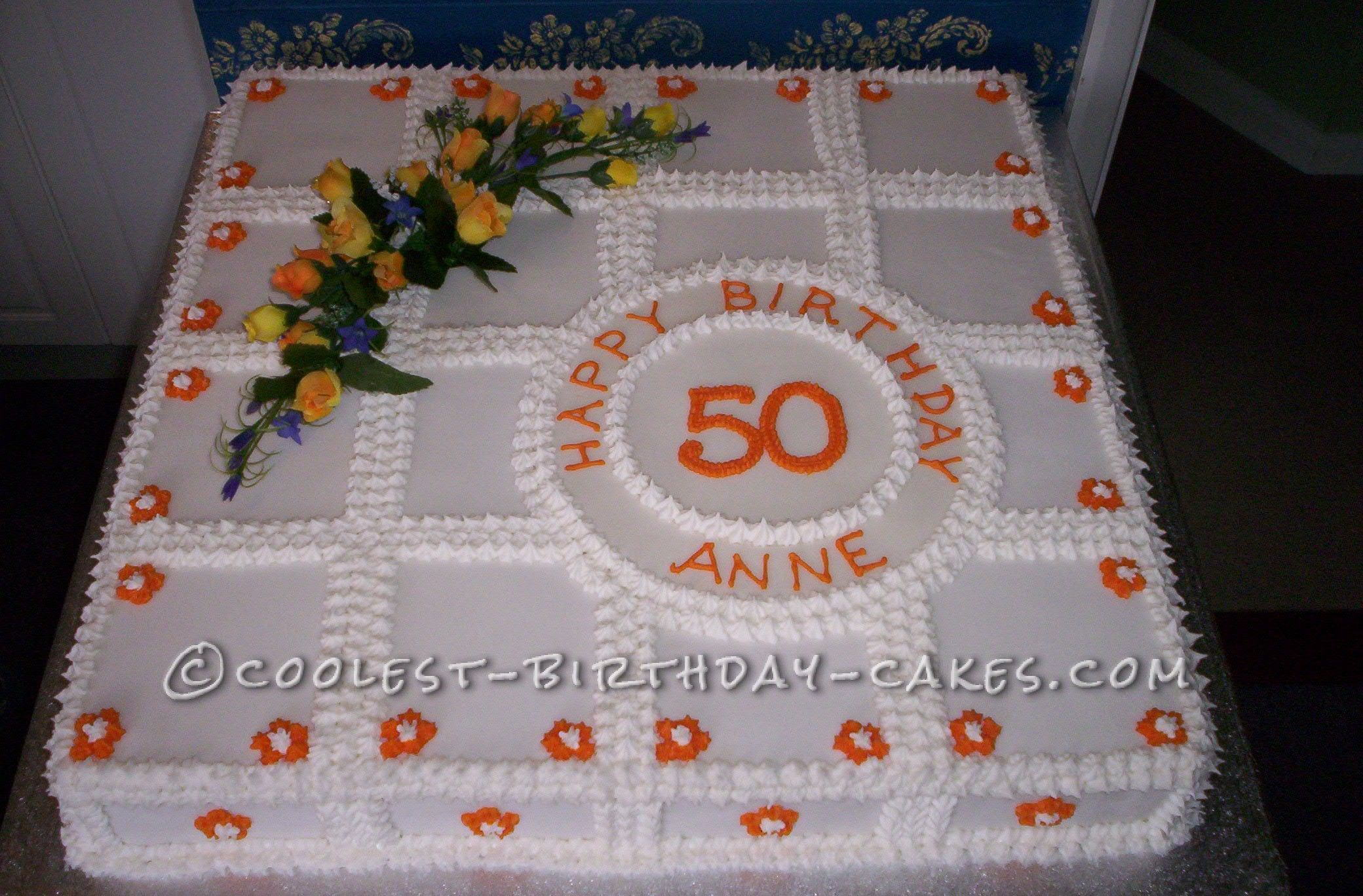 Cool Homemade 50th Birthday Cake Birthday cakes Birthdays and Cake