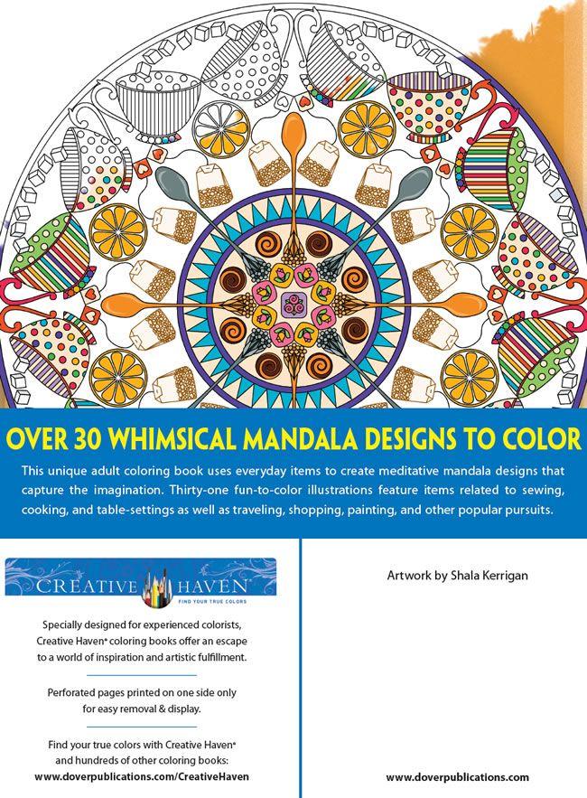 Creative Haven Whimsical Mandalas Coloring Book