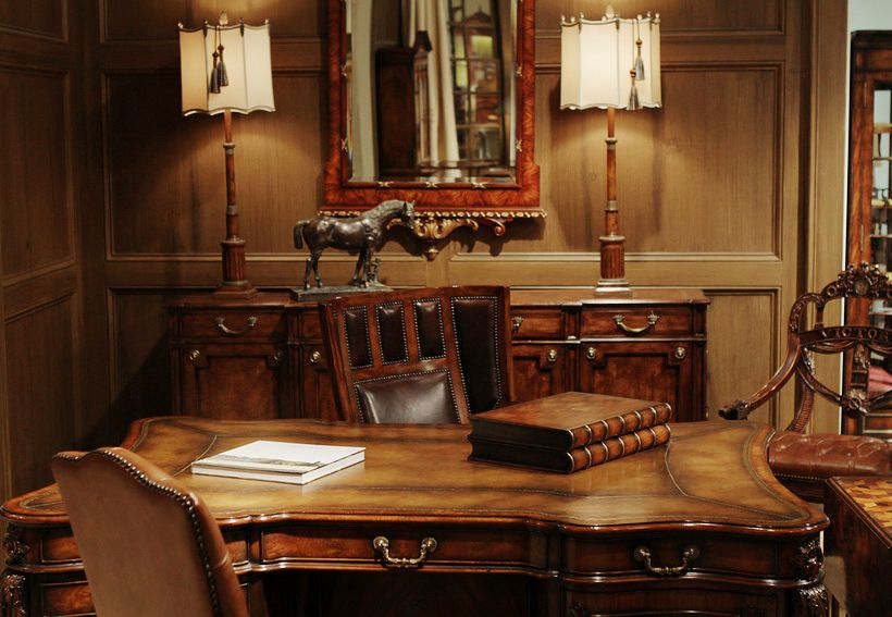 Luxury Private Office By THEODORE ALEXANDER (Great Britain). Traditional  English Style. #