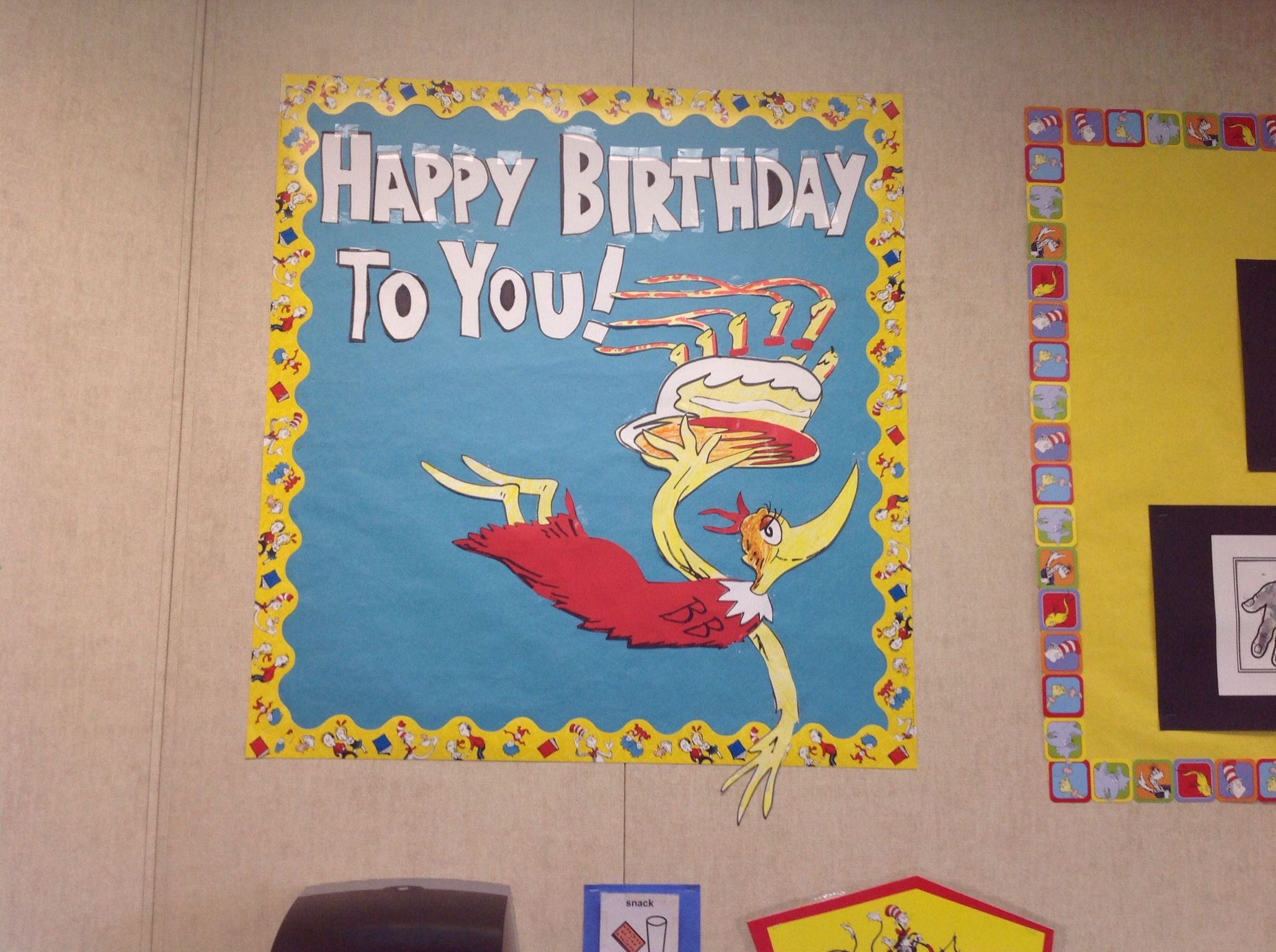 Birthday Bulletin Board Dr Seuss Theme