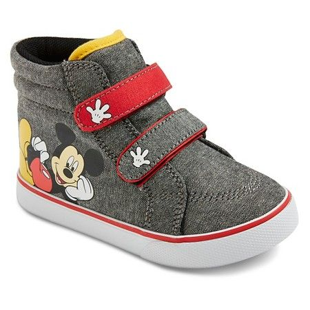 a98b20a09d2a96 Toddler Boys  Mickey Mouse High Top Sneakers - Grey 8   Target ...