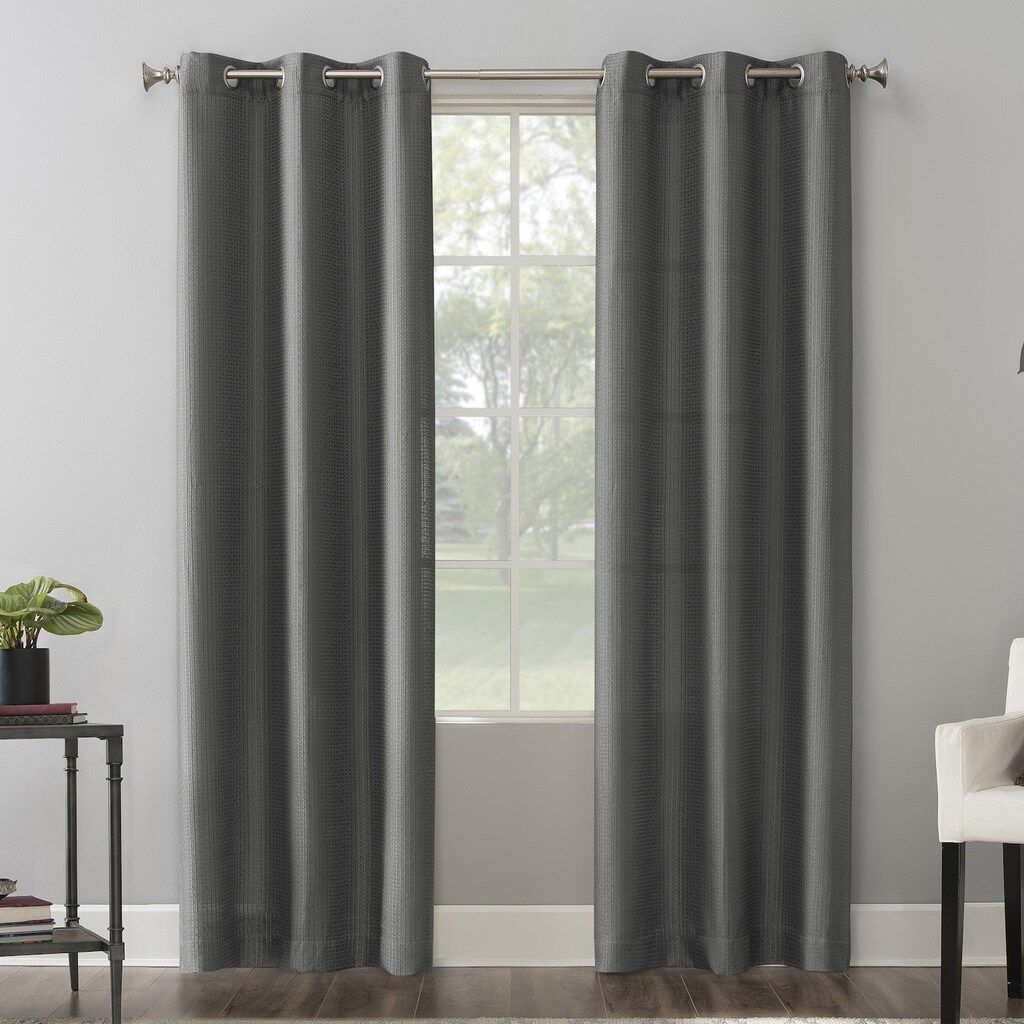 The Big One 2 Pack Raiden Solid Grommet Window Curtain Set Med