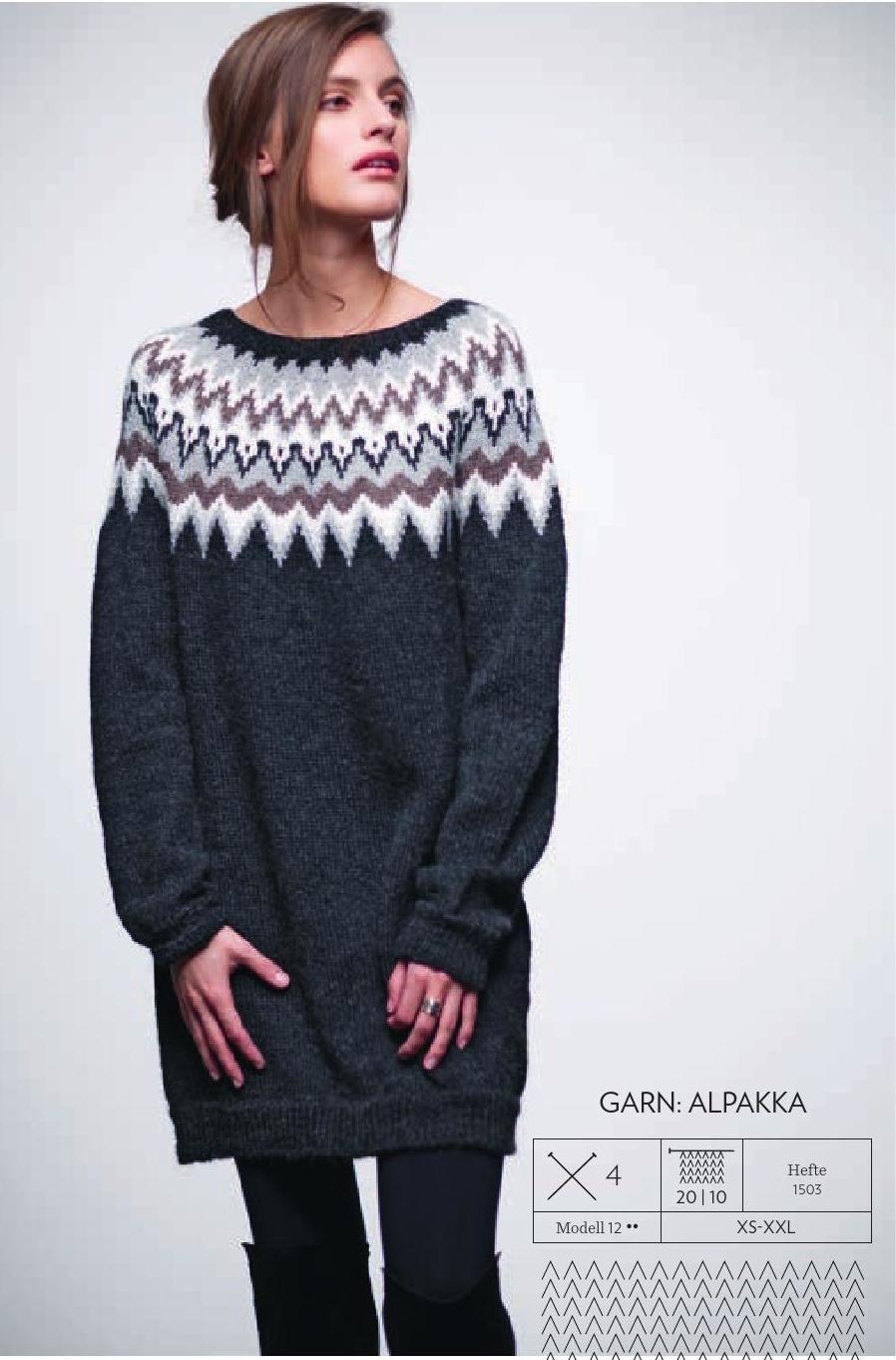 dae417fec394 ISSUU - 1503 dame by SANDNES GARN Icelandic Sweaters, Sweater Design, Fair  Isle Knitting