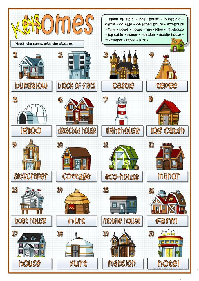 Types Of Homes Types Of Houses Different Types Of Houses Free Preschool Printables