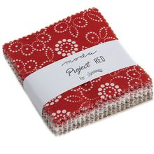 """Project Red Mini 2.5"""" Charm Pack by Sweetwater for Moda Fabrics"""