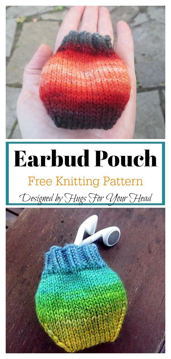 Photo of Earbud Pouch Free Knitting Pattern  #freeknittingpattern #easyknittingpatterns #…