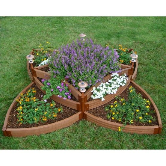 Tiered Flower Bed-Looks Like A Celtic Knot | Landscaping/Outdoor