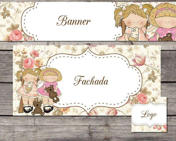 kit Elo7 floral vintage