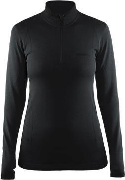 5439fbe041252f Thermoshirt met rits - Active comfort - Zwart - lange mouw - Dames - Craft -