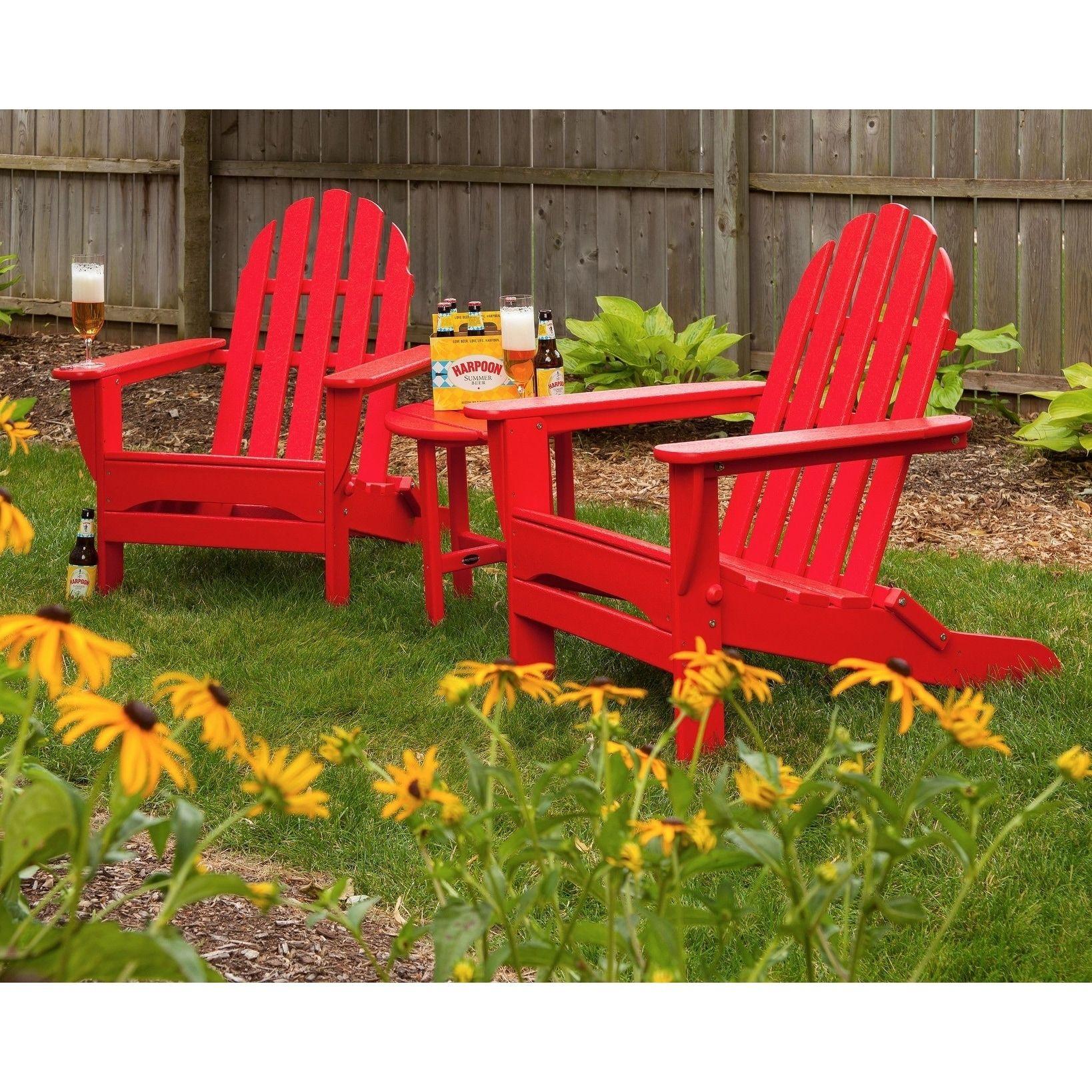 polywood classic adirondack chair folding desk mat outdoor aruba patio sunset red furniture