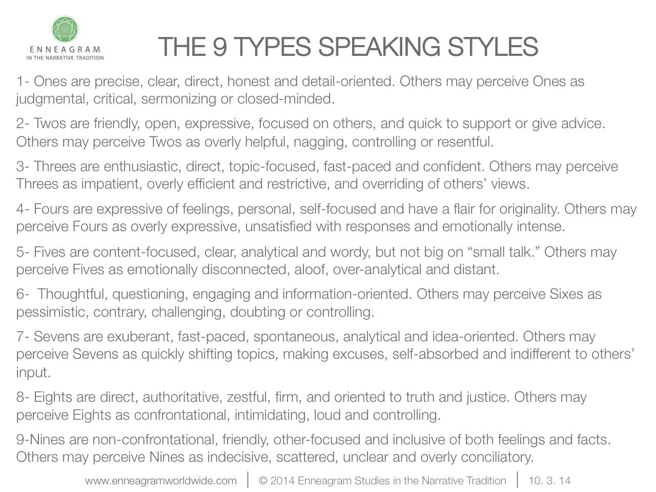 the 9 types speaking styles get personal style the 9 types speaking styles