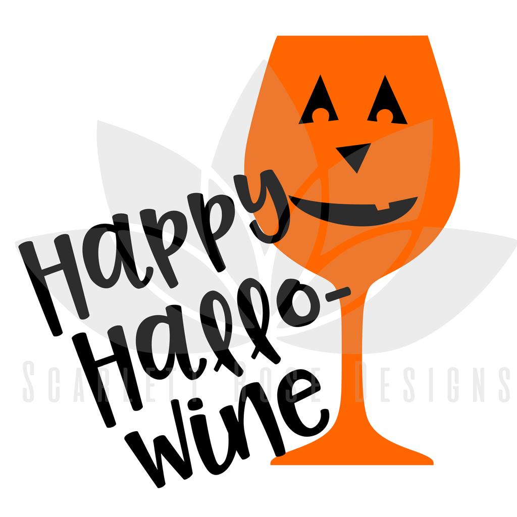 Halloween SVG cut file, Hallo-Wine, Pumpkin Wine Glass SVG #baby-boy-first-halloween #baby-costume #baby's-first-halloween