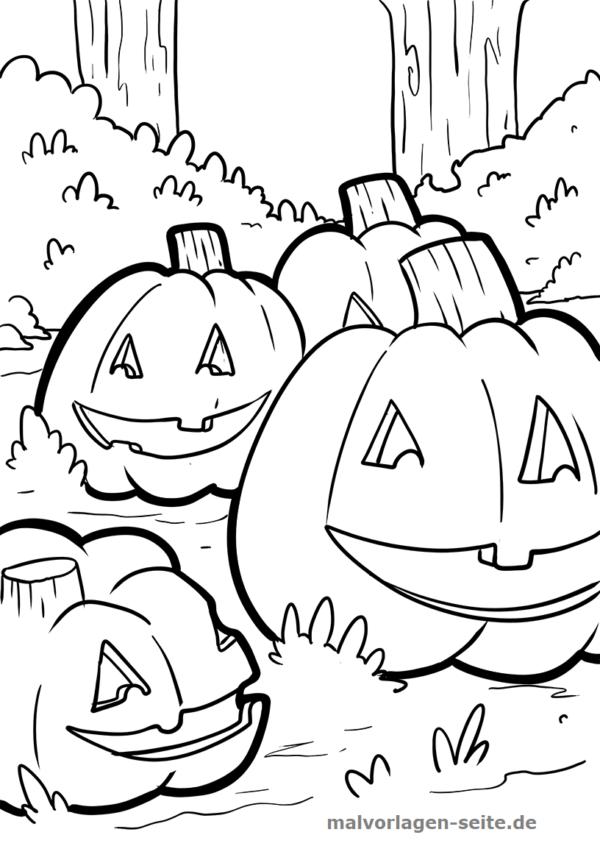 Malvorlage Halloween Kürbis   Feiertage   Kostenlose ...
