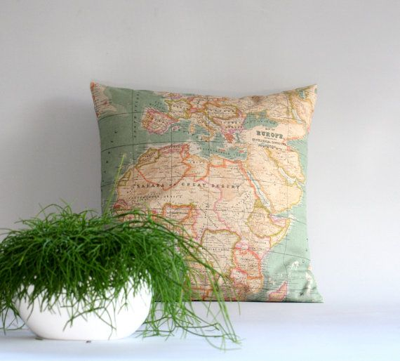 World map pillow cover throw pillow cover cushion cover 16x16 world map pillow cover throw pillow cover cushion cover 16x16 18x18 20x20 24x24 26x26 inch map cushion gumiabroncs Choice Image