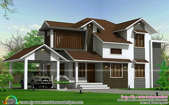 Kerala Home Design And Floor Plans Modern House Designs Kerala House Design House Design Modern House Design